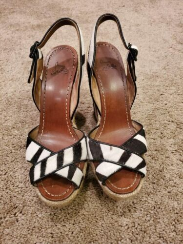 Christian Louboutin Zebra Wedges