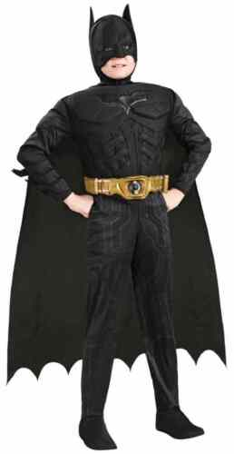 Batman Dark Knight Black Superhero Fancy Dress Halloween Deluxe Child Costume