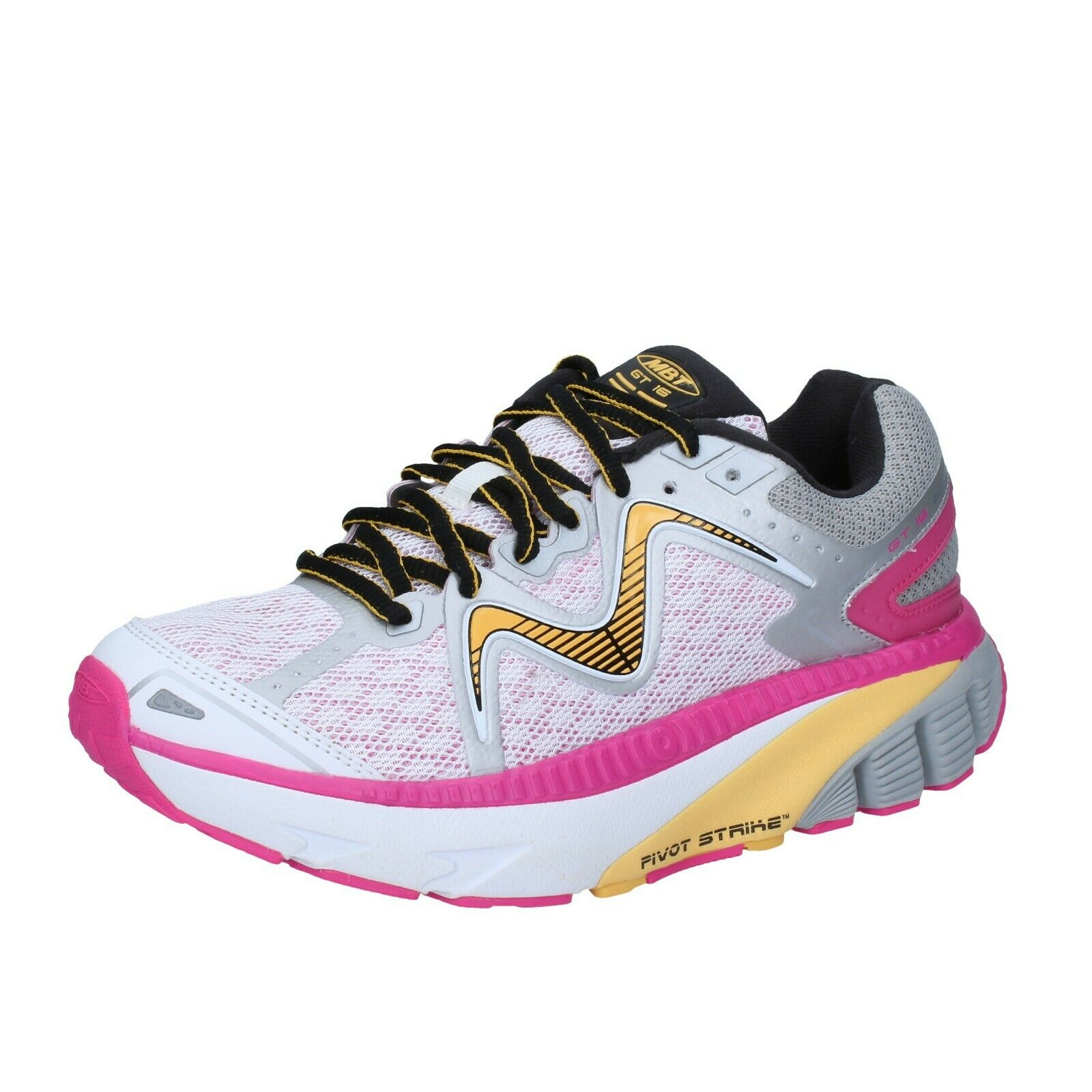 Womens shoes MBT 4,5 () sneakers white textile performance BS389-37,5
