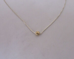da95be61165c14 Dainty Gold Filled Ball Choker on 925 Sterling Silver Chain Necklace ...