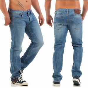 G-star-Jeans-3301-Coupe-Droite-Hadron-Denim-Moyen-Vieilli-Neuf-Pantalon