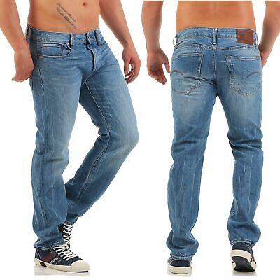 G-Star RAW 3301 Damen Jeans Hose Straight Leg Blau Denim W31 L34 NEU