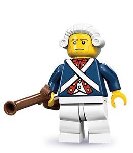 RARE-Lego-collectible-minifig-series-10-Revolutionary-Soldier-uniform-muskat