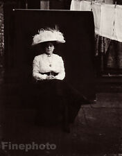 1912 Vintage New Orleans FEMALE PROSTITUTE ~ Louisiana Photo Art By E.J. BELLOCQ