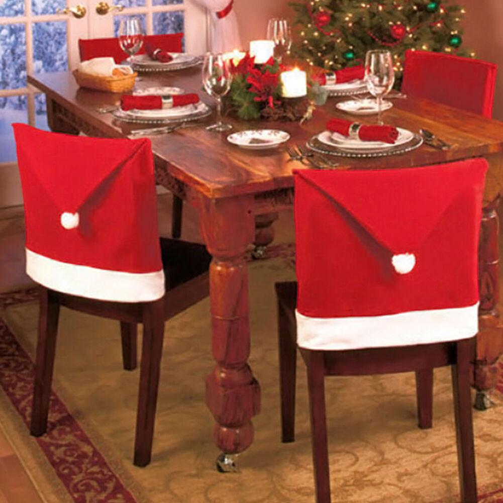 Weihnachten Stuhl Bezüge Weihnachtsmann Weihnachtsmann Weihnachtsmann Rote Mütze Abendessen Stromversorgung | Leicht zu reinigende Oberfläche  e9a322