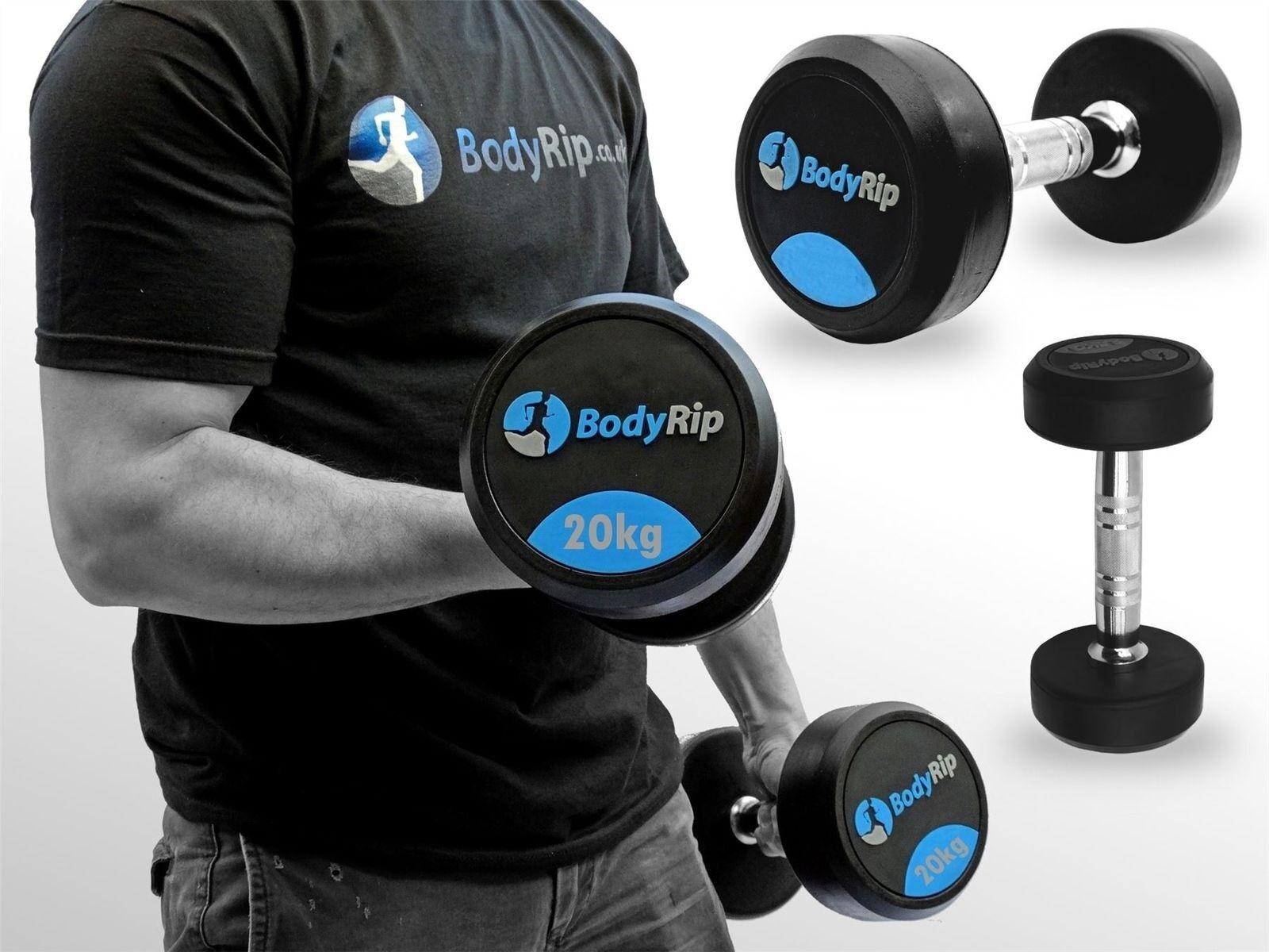 Bodyrip Premium pro Fisse Peso Manubri Paio Set  2 x 20kg