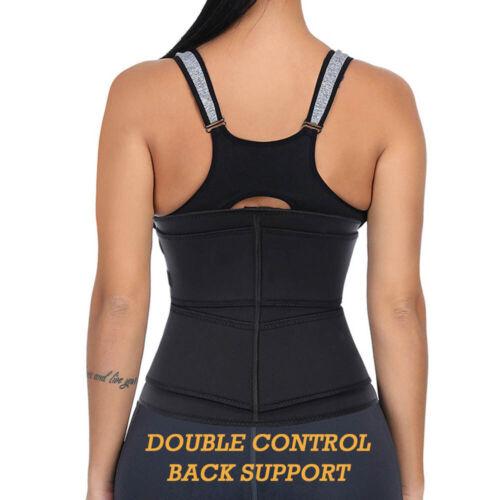 Women Waist Trainer Sweat Trimmer Trainer Belt Zipper Corset Body Shaper Cincher