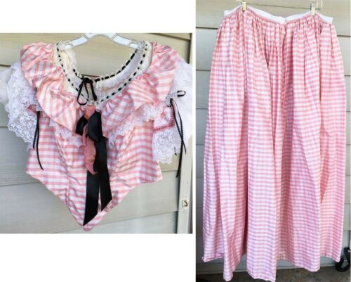 Civil War Reenactment Pink Summer Ballgown Dress S