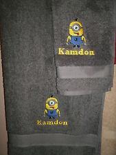 Minion Personalized 2 Piece Bath & Hand Towel Set Minion Your Color Choice