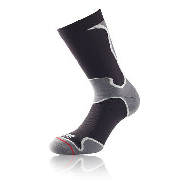 EntrüCkung 1000 Mile Mens Fusion Sport Socks Black Sports Running Gym Padded Heel Achilles