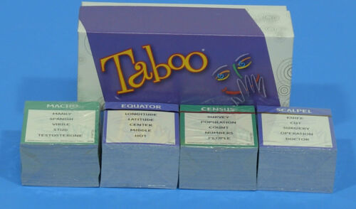 You Choose Taboo 2009 New Sealed Replacement Parts Cards Timer Buzzer G453