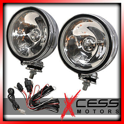 "Toyota 6"" Round Chrome Fog Light Kit Off Road Truck W/Switch"