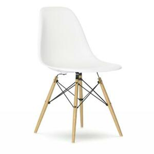 Sedia Design Eames.Details About Vitra Sedia Dsw Originale Charles Ray Eames Bianco Acero Giallastro
