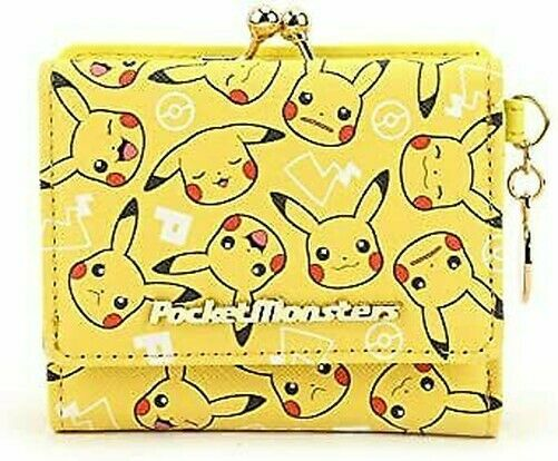 Pokemon Pikachu Face total handle series cap mini purse yellow PM-2905 [lt4]