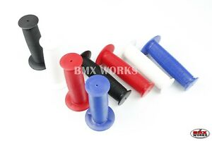 Black /& White Sold In Pairs Blue Old School BMX Mushroom Grips Red