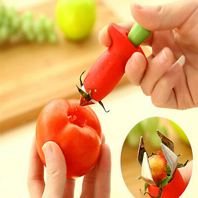 Fashion Strawberry Stem Leaves Huller Remover Removal Fruit Corer Kitchen Gadget