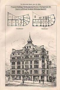 1881 ANTIQUE ARCHITECTURAL PRINT LONDONPROPOSED BUILDINGS NORTHUMBERLAND AVENU - <span itemprop=availableAtOrFrom>Holmfirth, United Kingdom</span> - Returns accepted Most purchases from business sellers are protected by the Consumer Contract Regulations 2013 which give you the right to cancel the purchase within 14 days after the da - Holmfirth, United Kingdom