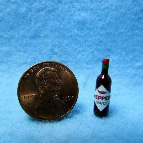Hot Sauce ~ HR55059 Dollhouse Miniature Replica Bottle of Pepper Sauce