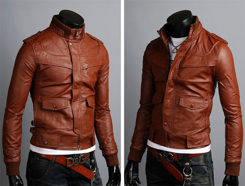 ★Giacca Giubbotto Uomo in di PELLE 100/%★ Men Leather Jacket Veste Homme Cuir 15d