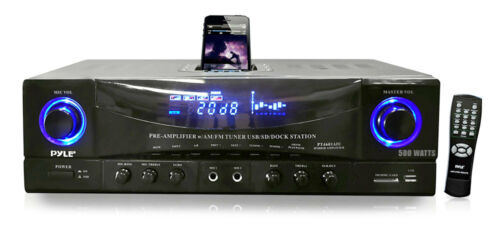 New Pyle PT4601AIU Stereo System AM-FM Tuner iPod Docking Station USB//SD Input