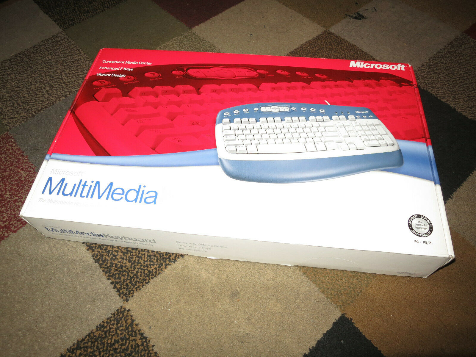 MICROSOFT MultiMedia Keyboard PS/2 Port NEW. Buy it now for 39.95