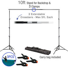10Ft Adjustable Background Support Stand Photo Video Crossbar Kit Photography