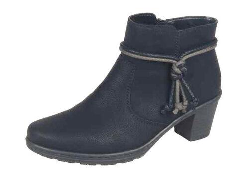 nuevo + 54950-00 negro Rieker zapatos señora zapatos botín ++