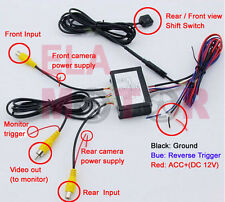 Car Front & Rear View Parking Backup Camera Video Switch 2 Channel Control Box