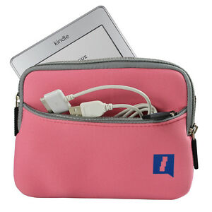 Pink-Tasche-Neopren-fuer-Amazon-Kindle-Touch-Wi-Fi-6-034-E-Ink-Display-3G-Huelle-Case