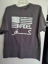 INFIDEL Marines USMC Navy Seals AIRBORNE Military Men/'s Tee Shirt 234