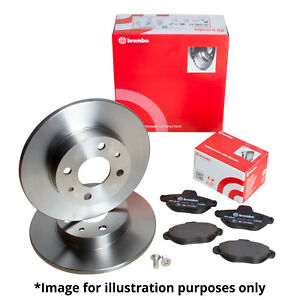 GENUINE BREMBO VENTED FRONT BRAKE DISCS /& SOLID REAR BRAKE DISCS WITH WARRANTY
