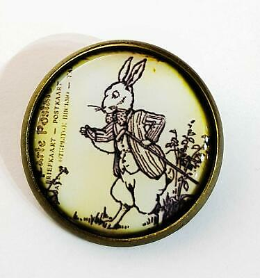 Alice In Wonderland White Rabbit Enamel Lapel Pin Badge//Brooch BNWT//NEW Gift