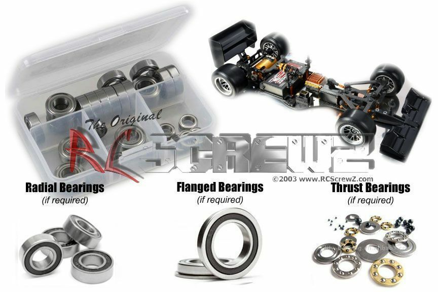 XRAY X1 F1 RUBBER BEARING KIT - RCXRA061B