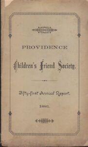 Vintage-Providence-Genealogy-Children-039-s-Friend-Society-1886-rare-item