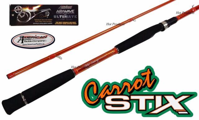 "Carrot Stix SPINNING 10' 6"" MEDIUM Wild Orange Salmon Steelhead Fishing Rod"