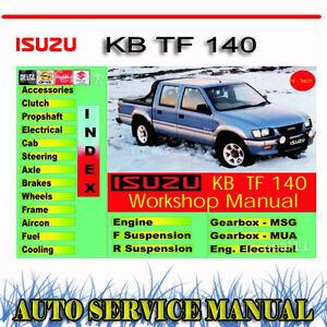 isuzu rodeo isuzu kb tf 140 1988 2002 service repair manual dvd ebay rh ebay com au Isuzu KB 250 Le Isuzu KB 250 Double Cab
