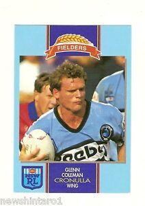 1993-CRONULLA-SHARKS-FIELDERS-RUGBY-LEAGUE-CARD-GLENN-COLEMAN