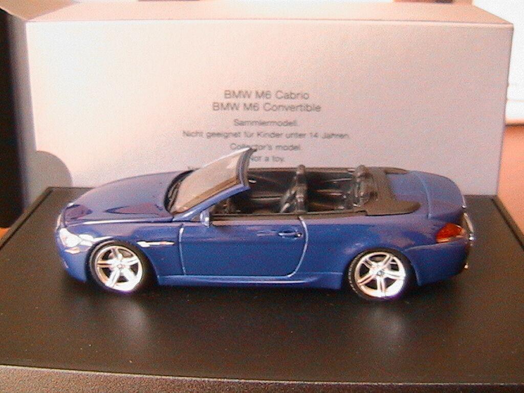 BMW M6 SERIE 6 6ER CONverdeIBLE CABRIOLET E64 2004 INTERLAGOS azul MET MINICHAMPS