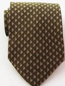 Giorgio-Armani-Cravatte-100-Silk-Executive-Brown-Made-in-Italy-Necktie-Tie