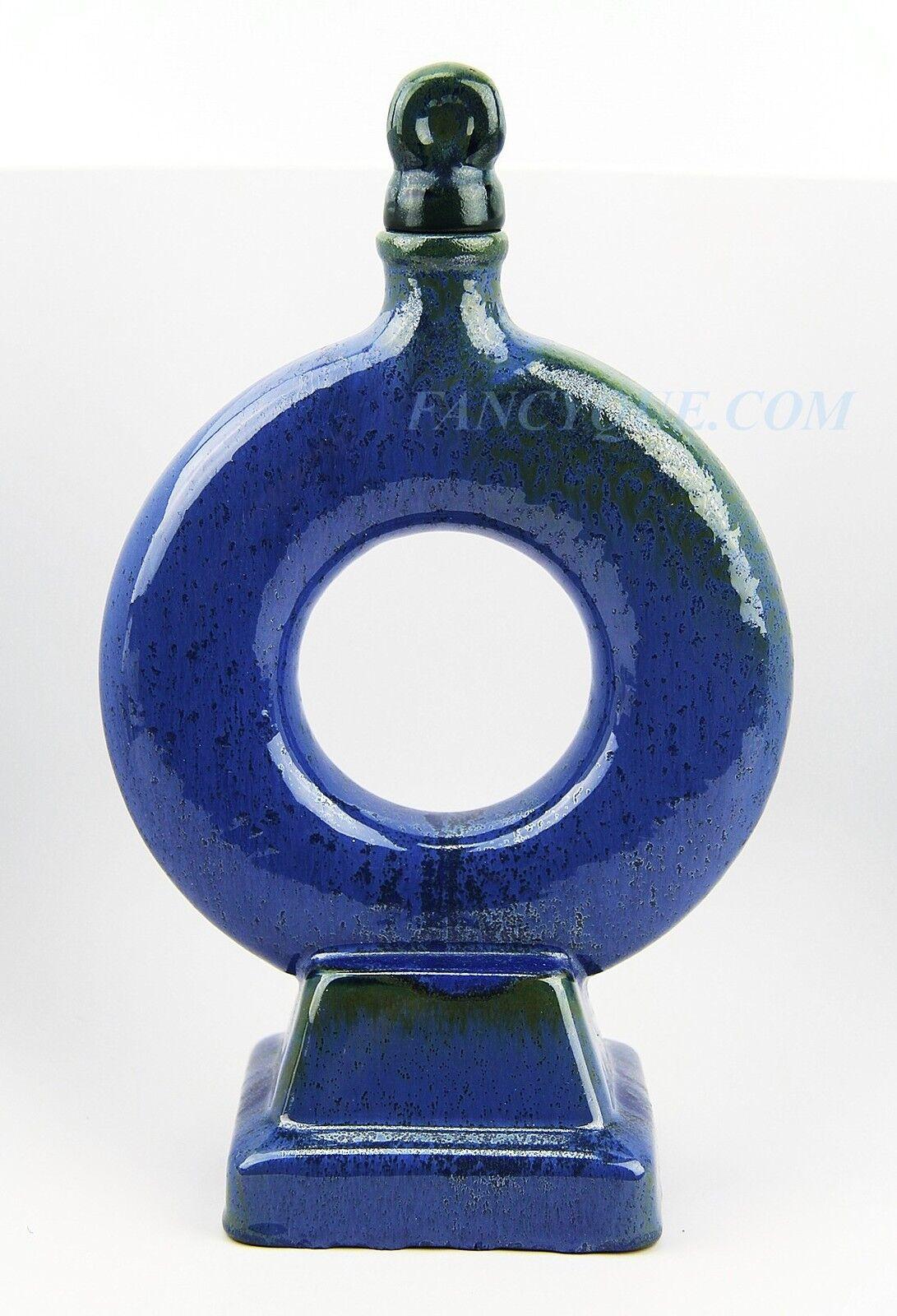 American Fulper cerámica hermoso decantador Musical Azul Flemington NJ   19
