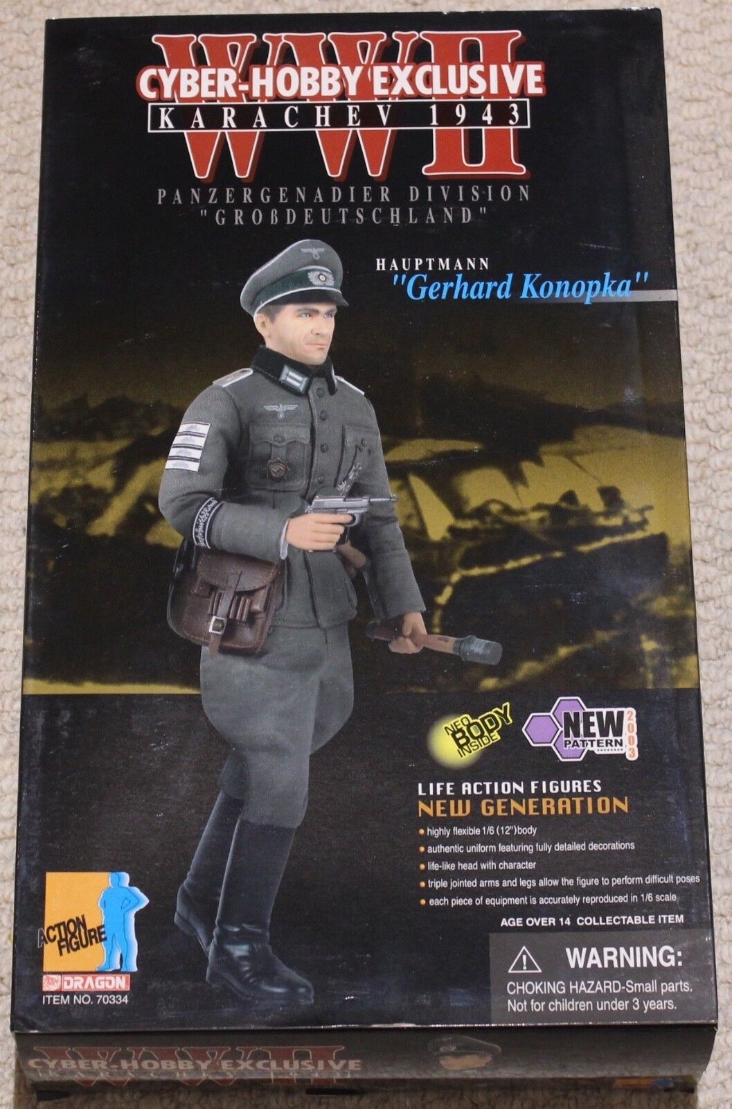 Dragon action figure 1 6 ww11 german konopka 12'' boxed did cyber hot toy