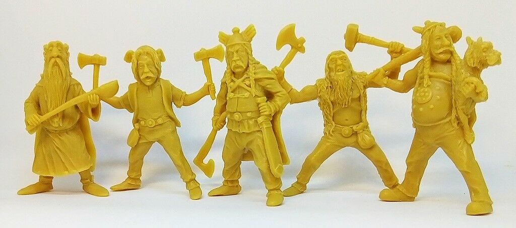 Asterix and Obelix Toy Soldiers, 5 Gauls, Soft Plastic Figures, 54mm, 1 32