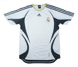 REAL MADRID 2006-07 Authentic Home Shirt (eccellente) M SOCCER JERSEY