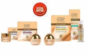 EVA-Anti-Wrinkles-DAILY-ROUTINE-Skin-Gold-Collagen-CREAM-SERUM-EYE-CONTOUR