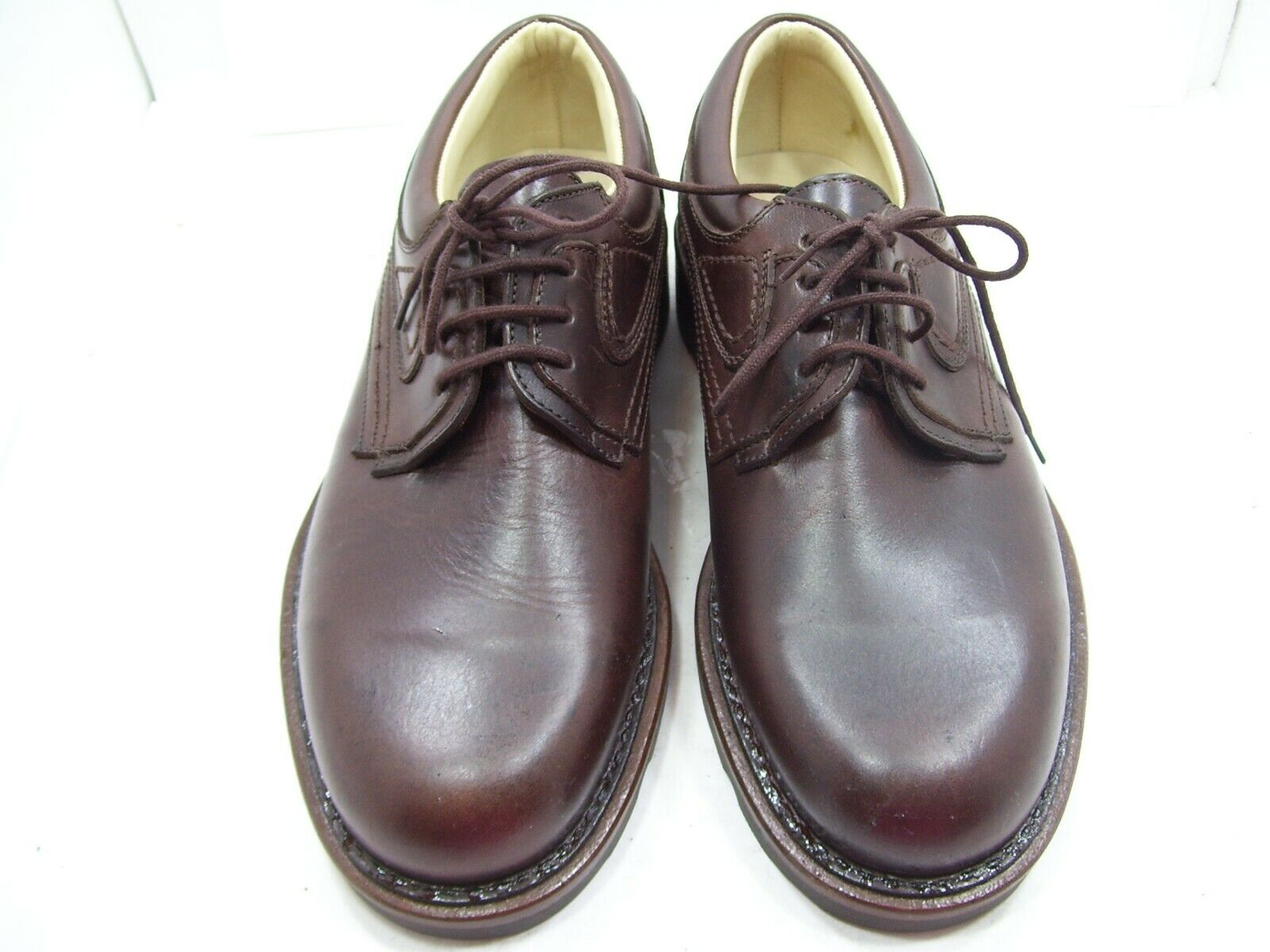 BATSANIS MENS DRESS FORMAL WORK CORPORATE LEATHER marron chaussures MADE IN AUS Taille 7