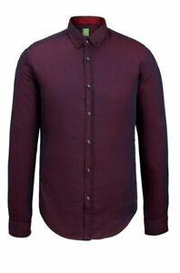 NWT-Hugo-Boss-Green-C-Baldasar-S-Cotton-Button-Down-Shirt-Slim-Fit-Small