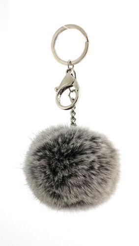 KC-YQ001 Key Chain Rabbit Fur Pom Pom