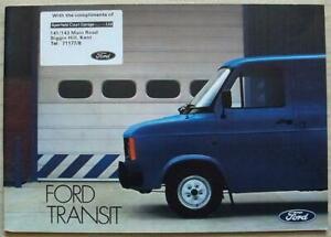 FORD TRANSIT Sales Brochure May 1982 #FB661 Kombi BUS Chassis Cab VAN Popular