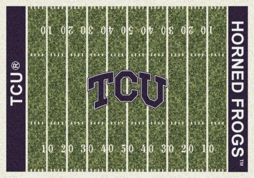 """Approx 5/'4/""""x7/'8/"""" 5x8 Milliken TCU Horned Frogs NCAA Field Area Rug"""