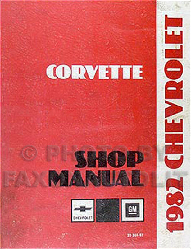 1982 Chevy Corvette Original Shop Manual 82 Repair Service Book